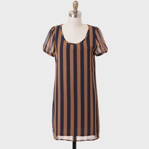"""""""In The Stands"""" Striped Shift Dress"""